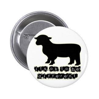 ok black sheep farm 6 cm round badge