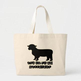 ok black sheep farm jumbo tote bag
