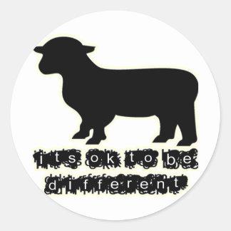 ok black sheep farm round sticker