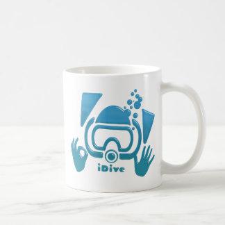 OK iDive Beveled Blu Scuba Mug