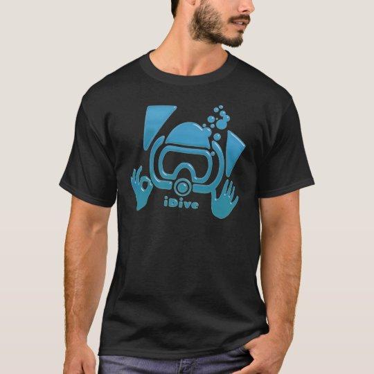 OK iDive Beveled Blu Scuba T-Shirt