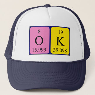 OK periodic table word hat