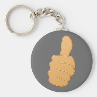 ok thumbs highly thumb UP Basic Round Button Key Ring