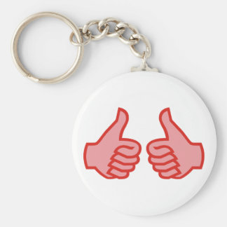 OK thumbs highly thumbs UP Basic Round Button Key Ring
