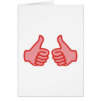 OK thumbs highly thumbs UP Card