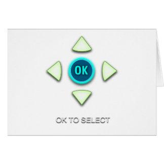 OK to Select Card