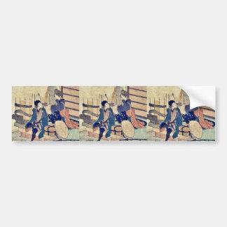 Okabe  by Katsushika, Hokusai Ukiyoe Bumper Stickers