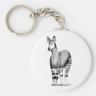 Okapi Art Keyring
