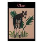 Okapi Illustration Card