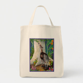 Okapi in Rainforest Grocery Tote Bag