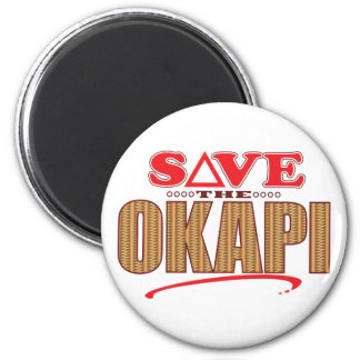 Okapi Save 6 Cm Round Magnet