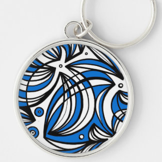 Okay Funny Generous Constant Silver-Colored Round Key Ring