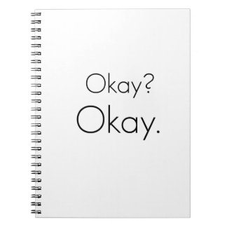 Okay? Okay. Notebooks