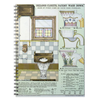 Okeanos Closets from a catalogue of sanitary wares Spiral Notebooks