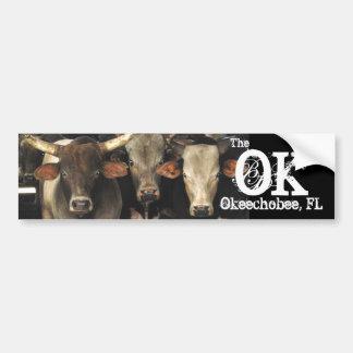 Okechobee Florida The OK Beef Cattle Cows Sticker