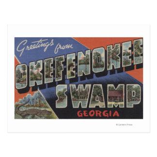 Okefenokee Swamp, Georgia - Large Letter Scenes Postcard
