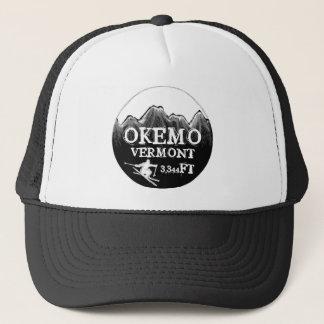 Okemo Vermont black white ski art elevation hat