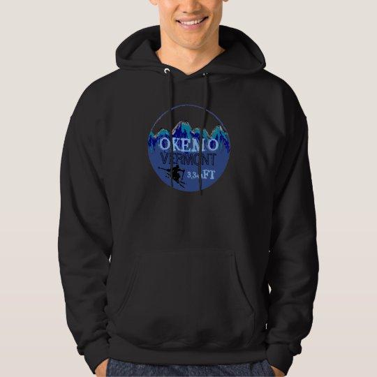 Okemo Vermont blue ski art elevation hoodie