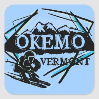 Okemo Vermont blue ski mountain stickers