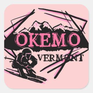 Okemo Vermont pink mountain ski stickers