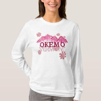 Okemo Vermont pink theme mountain hoodie
