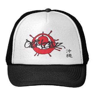 Oki Kidz/ Ink Splater Oki Flag/ Okinawa Kanji Mesh Hats