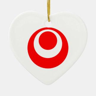 Okinawa Flag Heart Christmas Ornament