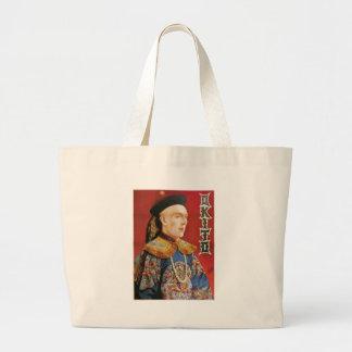 Okito ~ Oriental Magician Vintage Magic Act Jumbo Tote Bag