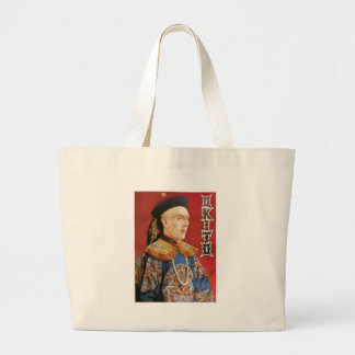 Okito ~ Oriental Magician Vintage Magic Act Large Tote Bag