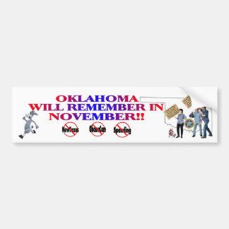 Oklahoma - Anti ObamaCare, New Taxes & Spending Bumper Sticker