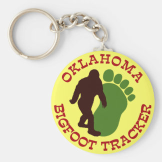 Oklahoma Bigfoot Tracker Key Ring