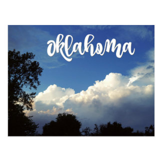 Oklahoma Blue Sky With Clouds Postcard