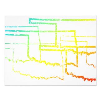oklahoma chill blur 11 cm x 14 cm invitation card