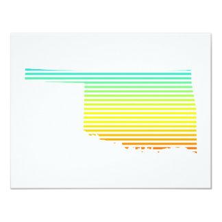 oklahoma chill fade 11 cm x 14 cm invitation card