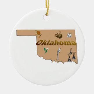 Oklahoma Christmas Tree Ornament