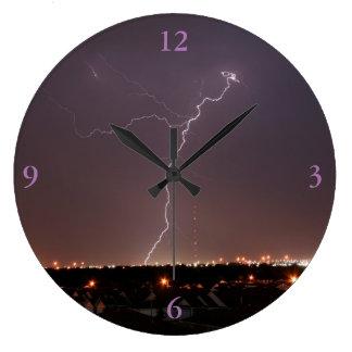 Oklahoma City Lightning Clock