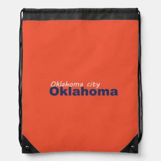Oklahoma City, Oklahoma Drawstring Backpack