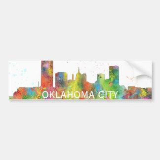 OKLAHOMA CITY, OKLAHOMA SKYLINE BUMPER STICKER