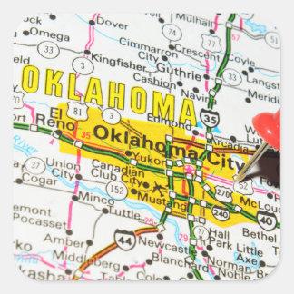 Oklahoma City, Oklahoma Square Sticker