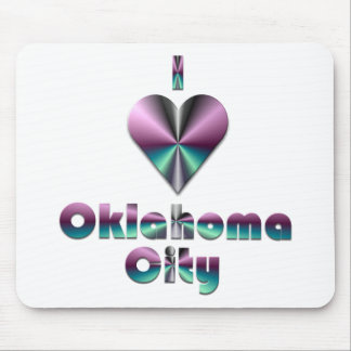Oklahoma City -- Purple & Turquoise Mouse Pad