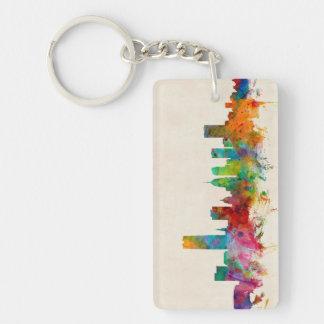 Oklahoma City Skyline Cityscape Double-Sided Rectangular Acrylic Key Ring