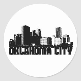 Oklahoma City Skyline Classic Round Sticker