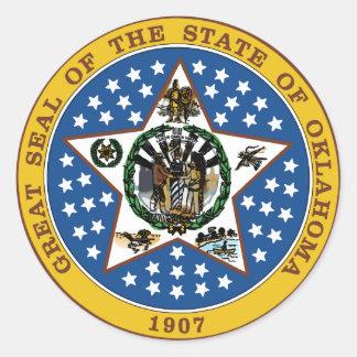 Oklahoma Classic Round Sticker