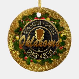 Oklahoma Country Music Fan Christmas Ornament