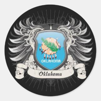 Oklahoma Crest Classic Round Sticker