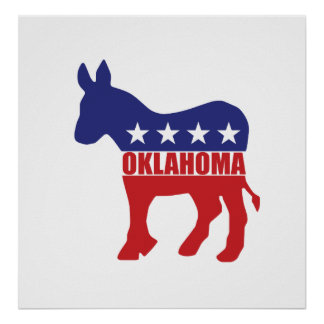 Oklahoma Democrat Donkey Posters