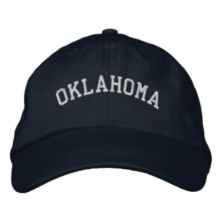 Oklahoma Embroidered Adjustable Navy Embroidered Hat
