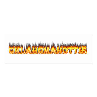 oklahoma fire and flames pack of skinny business cards