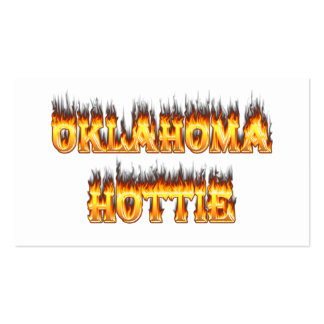 oklahoma fire and flames pack of standard business cards