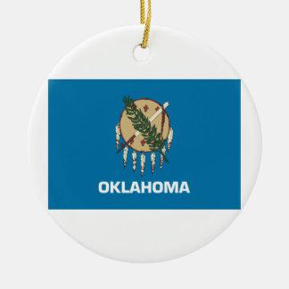 Oklahoma Flag Christmas Ornament
